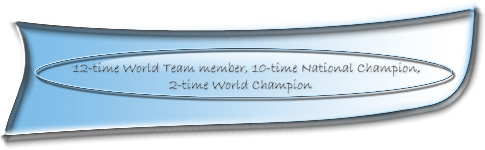 World team member since 1997, 9-time National Champion, two time World Champion